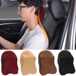 Travel Support Pillow Australia - Space Memory Foam Car Neck Pillow Head Restraint Headrest Pillow Automobile Portable Travel Auto Car Headrest Support
