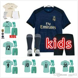a39926a32 kids kits 2019 2020 Real madrid ISCO Soccer jersey THIRD GREEN 19 20  BENZEMA MODRIC MARCELO bale ASENSIO camiseta de futbol soccer jerseys