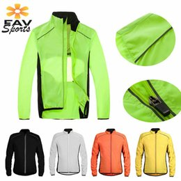 men running jerseys UK - Men Outdoor Sports Running Jacket Windproof Reflective Cycling Jacket Men Ride Cycle MTB Clothes Long sleeve Jerseys
