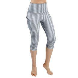$enCountryForm.capitalKeyWord Australia - KLV Women's Printing Hip High Waist Pocke Seven Points Yoga Pant Running Sports Pant Fashion Yoga Pants Sport Leggings Women #4