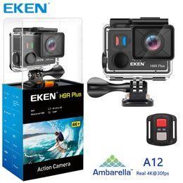 Full body camera online shopping - EKEN H9R Plus Action Camera Ultra HD K Ambarella A12 k fps Metal Body Underwater Waterproof Helmet Video Camera