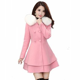 9b8217ef4b 2018 women's new autumn and winter skirts set waist long section slim  slimming small fragrance wind wool coat