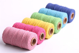Double siDeD printing clothing online shopping - Hot Home Textiles m Long Yard Pure Cotton Twisted Cord Rope Crafts Macrame Artisan String High Quality Home Decorative