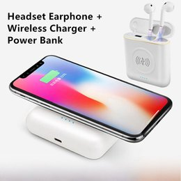 $enCountryForm.capitalKeyWord Australia - Wholesale XT6 5200mAh Wireless Power Bank TWS 3 in 1 Stereo Bluetooth Earphone Headphone Charging Box Phone Charger Battery Pack