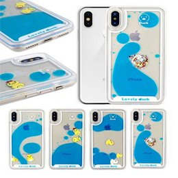 For Iphone 6 Case 3d Clear Flowing Liquid Swimming Yellow Duck Back Cover For Iphone 5s Se 6s 6 Plus Capas Accessories Cellphones & Telecommunications