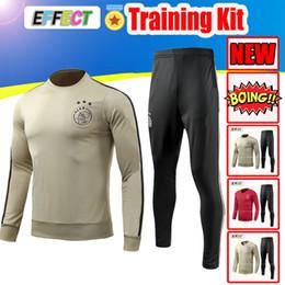 4f00b5504 2019 New Ajax FC Soccer Training Suit Chandal 18 19 AJAX Home Red Yellow  Tracksuit Kit Maillot De Foot Long Sleeve Men Kids uniform XXL