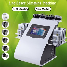 Ultrasonic High Frequency Machine Australia - High Quality New Model 6 In 1 40K Ultrasonic Cavitation Vacuum Radio Frequency Laser 8 Pads lipo Laser Slimming Machine for home use