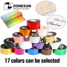 $enCountryForm.capitalKeyWord Australia - Zonesun Gold Silver Rolls Hot Foil Stamping Heat Transfer Anodized Gilded Paper With Shipping Cost Fee Q190528