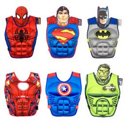 Kids swimming vests online shopping - Kid Cartoon Life Jacket Stereoscopic Muscle Buoyancy Vest Boy Girl Baby Floating Suit Swim Supplies Red Blue Foam dl C1