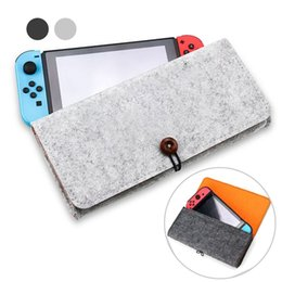 Game Switch Australia - Wool Felt Case For Nintendo Switch Cover with 5 Game Cards Large Capacity Protective Divide Layered Bag Travel Carrying Pouch Shockproof Box