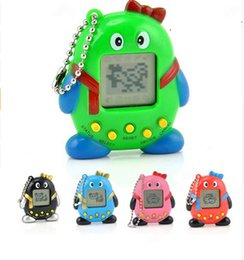 Mini plastic penguin online shopping - 5 Colors QQ Penguin Electronic Pet Game Machine Animals In One Classic Mini Game Pets Kids Best Gift L591