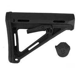 Venta al por mayor de Pistola de juguete de rifle de juguete CTR stock negro AEG GBB Polymerme Toys Buttstock M4 / M16 PURPLE DE