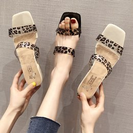 new trend men fashion shoes 2019 - 2019 Summer New Korean Version of Women's Slippers Trend Fashion Sexy Leopard Thick Heel Sandals Women's Shoes
