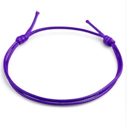 fashion strings bracelets UK - Free ship 100pcs Lucky Handmade Red wax String Cord Lucky Bracelets Pulseras Bangle For Women Men Multi-color Bracelet Fashion Jewelry