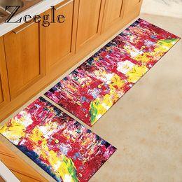 $enCountryForm.capitalKeyWord NZ - Watercolor Printed Hallway Doormat Long Rectangle Kitchen Carpet Bedroom Floor Rug Bedside Mat Non Slip Carpet for Living Rooms