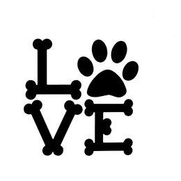 $enCountryForm.capitalKeyWord Australia - Love Dog Bones Puppy Pug Retriever Lab Car Truck Window Sticker Vinyl Decal Marathon Runners Motorcycle