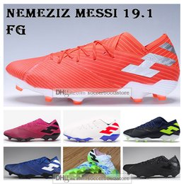 China Mens Low Ankle Football Boots Hardwired Pack Nemeziz 19.1 Firm Ground Cleats Nemeziz Messi 19.1 360 Agility FG Soccer Shoes cheap grounding shoes suppliers