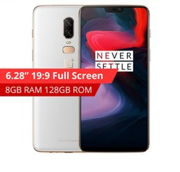 rom player 2019 - Original Oneplus 6 Snapdragon 845 Android 8.1 Cellphone 6GB 8GB RAM 64GB 128GB 256GB ROM Dual Cameras in stock discount
