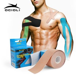 $enCountryForm.capitalKeyWord Australia - 6 Rolls Elastic Cotton Roll Adhesive Kinesiotape Kinesiology Tape Sports Muscle Strain Protection Tapes Bandage Suppoort