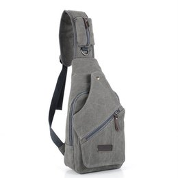 military messenger bags for men NZ - NEW Chest Pack Canvas Bags for Men Chest Sling Pack One Single Shoulder Man Travel By Walking Military Messenger Bag