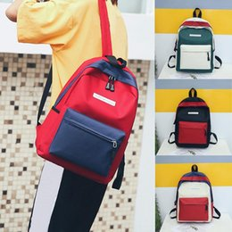 Candy Hit NZ - Xiniu Fashion Neutral Students Nylon Hit Color Shoulder School Bag Tote Backpack Mochilas Mujer Nice Backpack Women