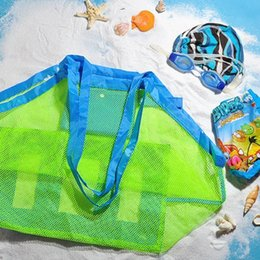 waterproof pocket bags for swimming Australia - Portable Beach Bag Foldable Mesh Swimming Bag For Children Beach Toy Baskets Storage Bag Kids Outdoor Swimming Waterproof Bags