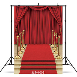 Backgrounds Portrait Photography Australia - staircase red curtain carpet Vinyl photography background for portrait children baby shower new born backdrop photo shoot photocall