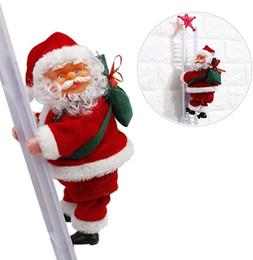 Cartoon feet online shopping - Electric Santa Claus Christmas decorations Santa Claus children s electric toys Santa Claus toys climbing ladders MMA2784 A1