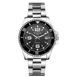 Round Clock Men Australia - Stainless Steel Wristwatch Men Watch Fashion Top Brands Watches Male Quartz Quality Clock Waterproof Calendar Relojes man