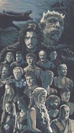 game thrones wall 2019 - Game Of Thrones Digital Decor wall Art Silk Poster 24x36inch 24x43inch cheap game thrones wall