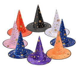 Fancy hats boys online shopping - New design witch hat Cosplay Costume Accessories Halloween party props fancy ball witch cap