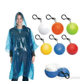 plastic coated chain NZ - Spherical Chain Plastic Raincoat Travel Disposable Key Portable Raincoats Rain Covers Ball Tour Coat Rain Trip IB142 Okwva