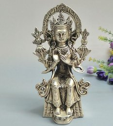 $enCountryForm.capitalKeyWord Australia - Antique miscellaneous bronze collection pure copper ornaments white copper silver plated craft gift Nepalese Buddha