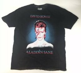 $enCountryForm.capitalKeyWord Australia - David Bowie Aladdin Sane Concert T Shirt Adult XL BlaUnisex RoUnisex Band Music Tour Men