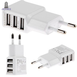 dock for iphone 5s UK - 5V 2A EU Multi USB Charger Device Plug For Oneplus iPhone 6 5S 5 4S for Samsung Galaxy S5 Travel Usb Power Adapter Wall Charger 200pcs lot