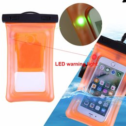 $enCountryForm.capitalKeyWord Australia - Waterproof Pouch With Flashing Alarm LED For Water Proof Diving Bag Outdoor Phone Case Underwater Phone With Neck Strap #993210