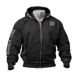 Thin Bodybuilding Hoodies Australia - Thin Fitness Hooded Sweatshirt Black Big Pocket Hoodie Men Bodybuilding Gym Sweatshirt For Men Zipper Long Sleeve Hoodies