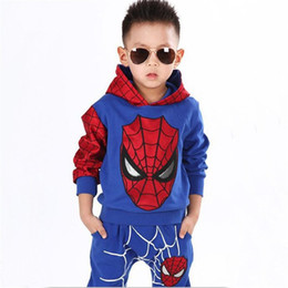 $enCountryForm.capitalKeyWord UK - 2019 Children Boys Clothing Sets Spiderman Sport Suit Cartoon Fashion Hoodie+pants Spider Man Cosplay Kids Costumes kids Clothes
