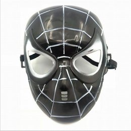 marvel toys wholesale UK - Promotion Marvel The Avengers Spider Man Masks Helloween Cosplay Masquerade Masks Party Mask Justice League Birthday Favors Toys Xmas Gift