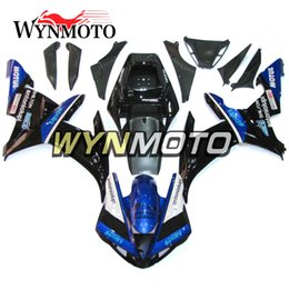 $enCountryForm.capitalKeyWord Australia - Black White Blue Cowling For Yamaha YZF1000 R1 2002 2003 Complete Bike Body Frames R1 02 03 Aftermarket Motorcycle ABS Body Work Covers