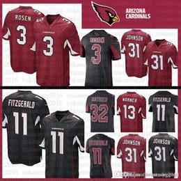 Best quality Arizona Jersey Cardinals 11 Larry Fitzgerald 3 Josh Rosen 13  Kurt Warner 31 David Johnson 32 Tyrann Mathieu Football Jerseys f737e119d