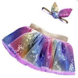 China 2019 summer sequins tutu skirt for girl new baby tutu skirts for juniors kid fashion colorful clothing set for holiday suppliers