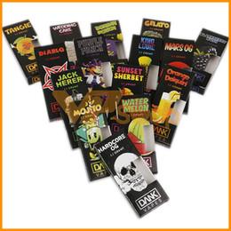 Голограмма 3D Dank Vapes Упаковочная сумка Новая упаковка Черный ящик 43 Стикеры с наклейками Vape Cartridges Сумка для бака E Сумки для сигарет на Распродаже