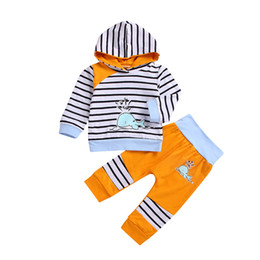 $enCountryForm.capitalKeyWord UK - Hillsionly Boys Girls clothing sets 2019 Toddler Kids Baby Boy Girl Hoodie Tops Striped Pants Leggings Outfit Set Clothes