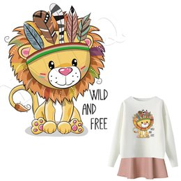 shirt heat NZ - Animal Patches Iron-On Heat Transfers Cartoon Ironing Stickers Stripe On Clothes Iron On Patches For T-shirt Heat Press Applique