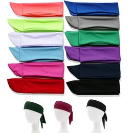 $enCountryForm.capitalKeyWord Australia - Head Tie Back on Headband Sports Headband Sweat Band Hair Sweatband Men Women