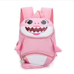 $enCountryForm.capitalKeyWord UK - INS Kids ANTI-LOST Backpack Baby shark Boys Girl Shoulder Bag Rucksack Cartoon Baby Harnes Toddler Safety Walking Strap Backpack 2019A52208