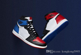 Picking Shoe Australia - New Arrival 1 OG High Top 3 Pick Men Women Basketball Shoes Blue Red Sports Sneakers With Original Box 555088-026