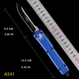 fold knives Australia - BLUE HANDLE MT Automatic Knife MICOR KNIVES TECH DOUBLE action tactical KNIFE folding knives pocket UTX- 85 knife