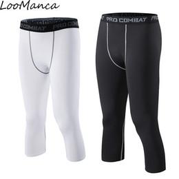 Tight Black Leggings Australia - Compression Basketball Tights New Sports Soccer Pants Black White Quick Dry Men Fitness Running Leggings Plus Size Q190525